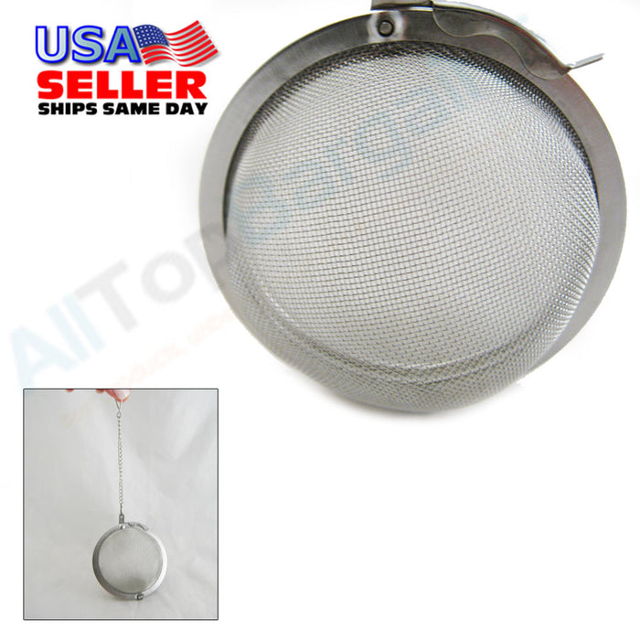 "2.5"" Stainless Steel Mesh Tea Ball Infuser Strainer Loose Leaf Round Reusable !!"