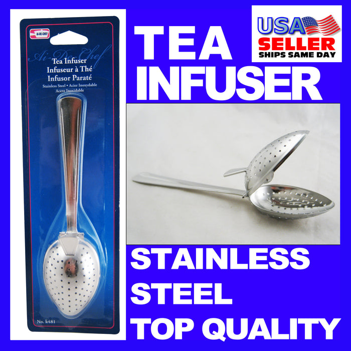Stainless Steel Tea Infuser Strainer Spoon Loose Leaf Filter Herbs Spice NEW!