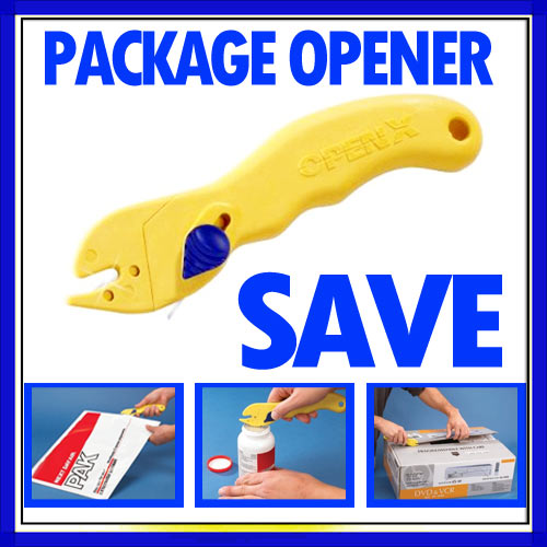 Plastic Openex Universal Knife Bag Box Dual Blade X Opener Package Slide Tool  !