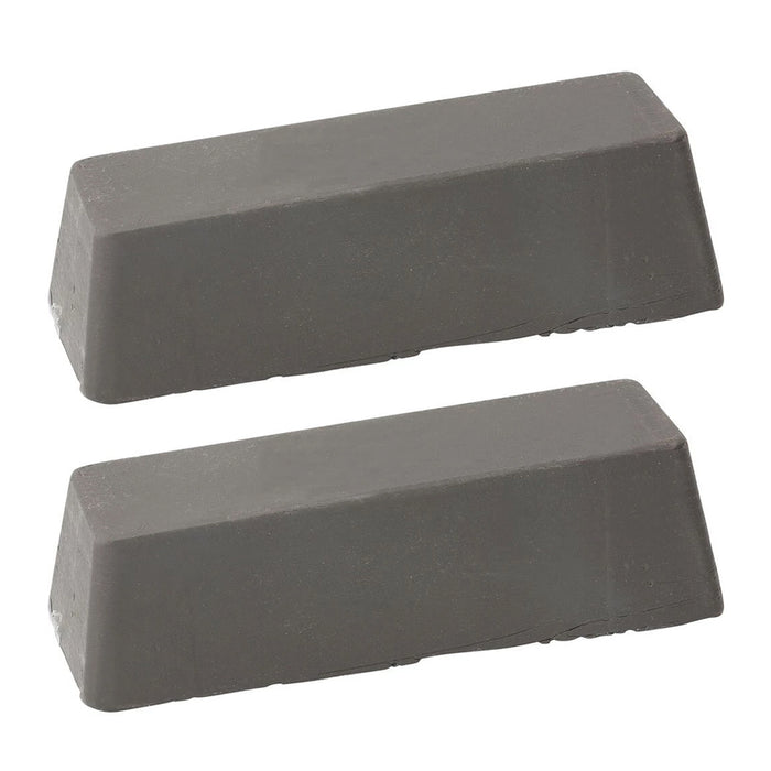 2 Pack Gray Polishing Compound Rouge Stainless Steel Polish Bars Buffing Jewelry