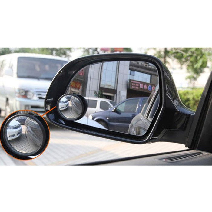2 Pack Blind Spot Mirrors 3 Wide Angle Convex Rear View Car Truck Universal Fit