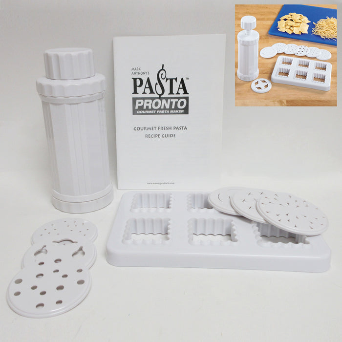 Fresh Pasta Maker Roller Machine Spaghetti Noodle Ravioli Cutter Kitchen Kit New