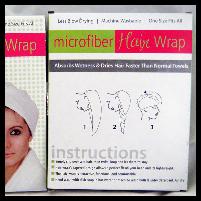 Bath Hair Wrap Towel Microfiber Drying Spa Head Cap Turban Wrap Twist Dry Shower