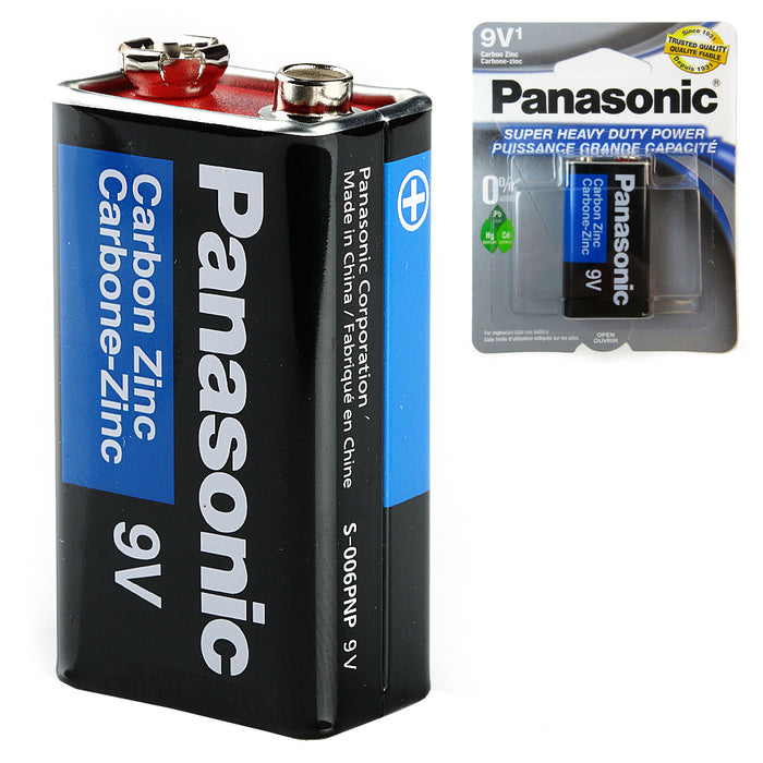 24 Lot Panasonic Battery 9 Volt Super Heavy Duty Carbon Zinc Batteries Wholesale