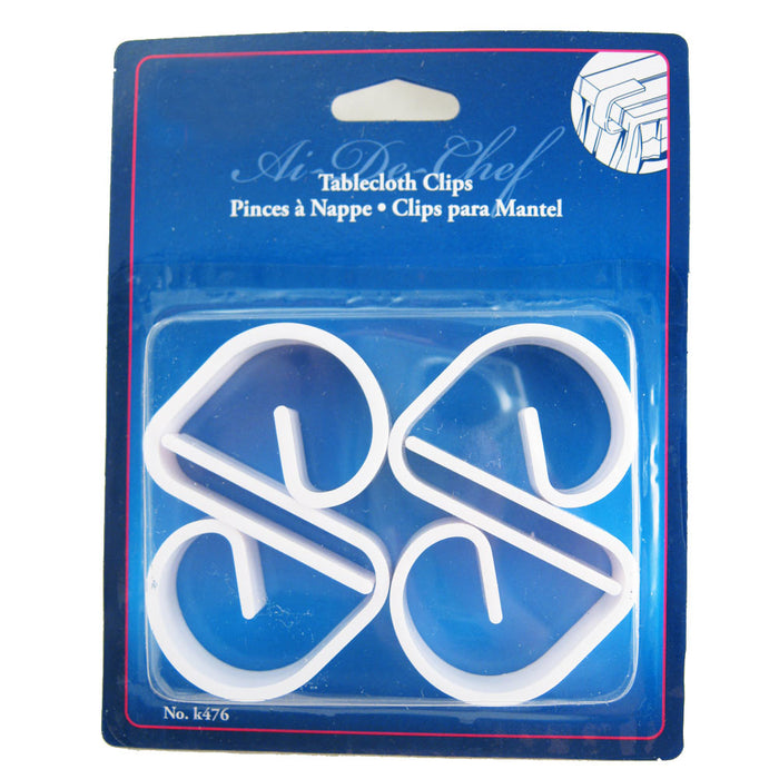 4 Table Cloth Clamps Tablecloth Clips Plastic Cover Skirt Holder Party Picnic !!