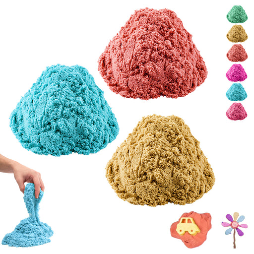 3 Pack Magic Cotton Sand Kids DIY Slime Kit Squishy Mud Putty 112g Non Toxic Toy