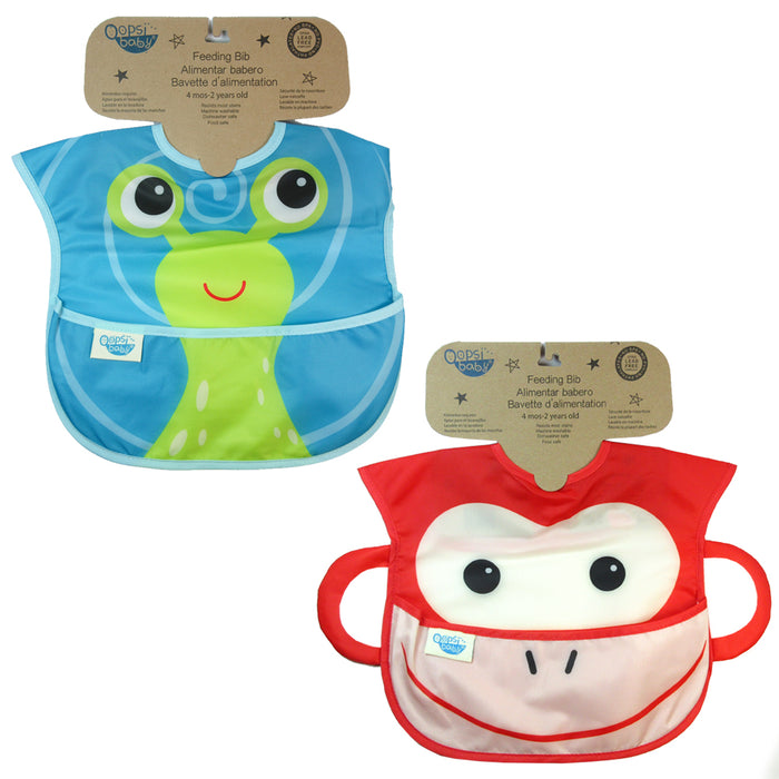 2X Baby Toddler Feeding Bibs Waterproof Comfortable Aprons Babadore Food Catcher