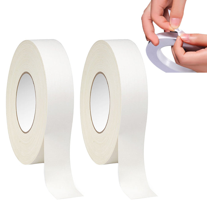 2 Rolls Double Sided Mounting Tape Strong Adhesive Transparent Clear 108 FT X 1""