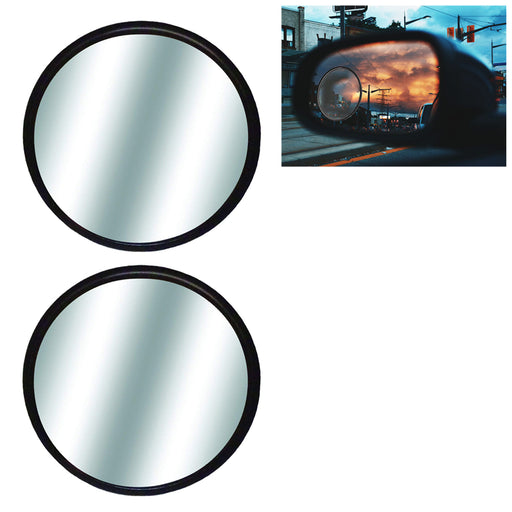 "2 Blind Spot Rear Side View Mirrors 3"" Wide Angle Convex Car Truck Universal Fit"