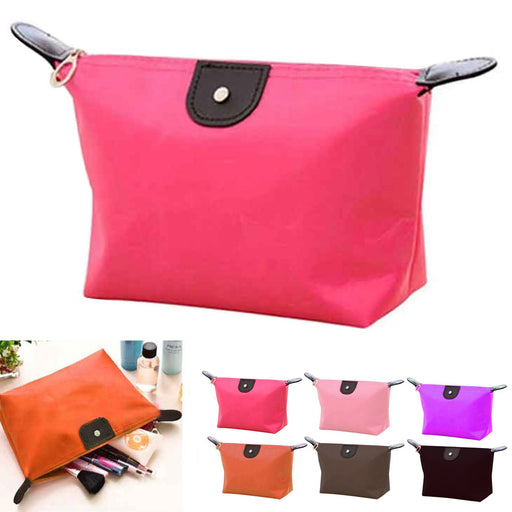 1 Nylon Cosmetic Bag Makeup Zippered Case Travel Toiletry Beauty Pouch Organizer