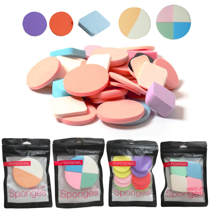 19PC Beauty Makeup Cosmetic Sponge Blender Flawless Foundation Blending Puff Lot