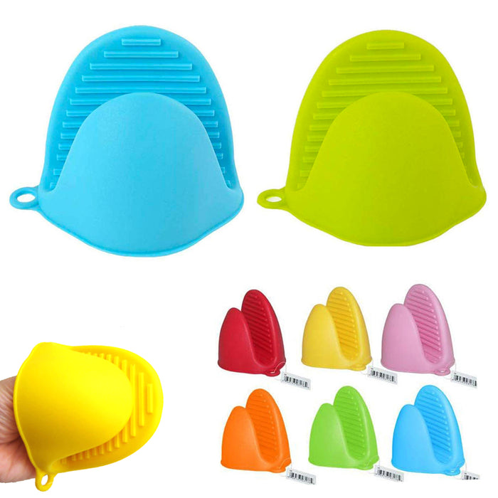 2 Silicone Gloves Pinch Non Slip Oven Mitt Heat Resistant Pot Holder Hot Baking
