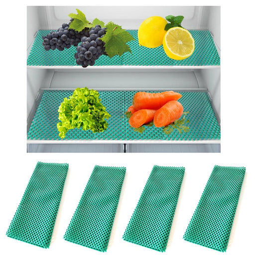 4 Packs Refrigerator Liner Anti-Slip Cushioned Nonstick Reusable Sheet Spill Mat
