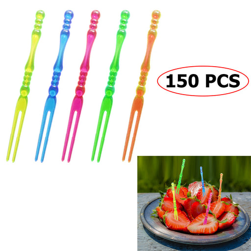 150 Food Fruit Picks Disposable Cocktail Forks Appetizer Catering Party Tasting