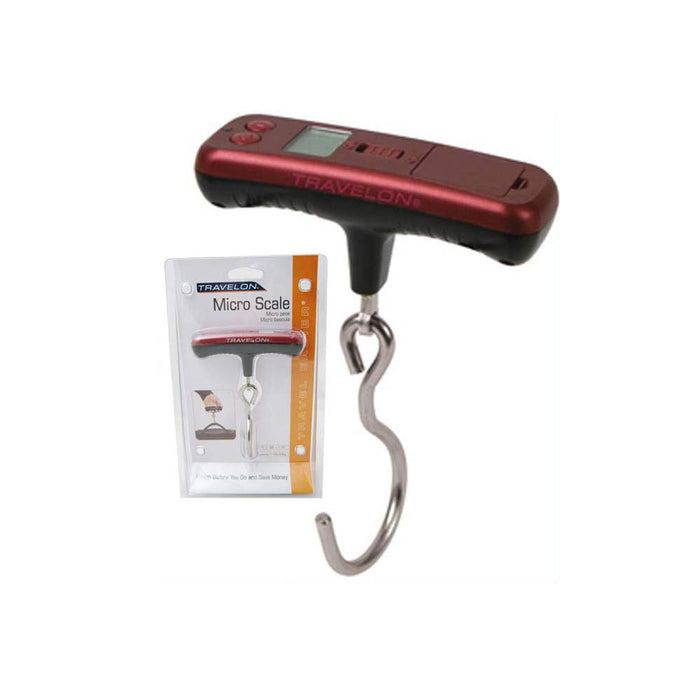 Travelon Micro Luggage Suitcase Scale Digital Hanging Travel Weigh Portable Hook