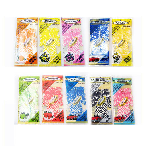 12 Exotica Hanging Car Air Aroma Freshener Scent Home Office Fragrance Hang New