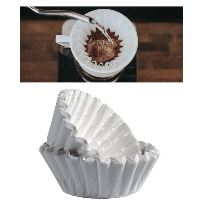 100 COUNT PAPER COFFEE TEA FILTERS BREWER BASKET MAKE 8-12 CUP MAKER BREW RITE !