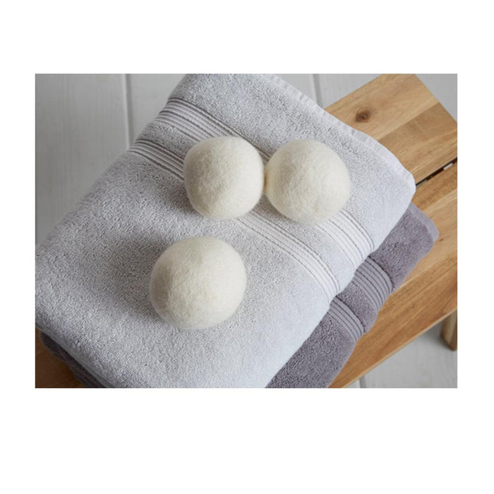 3 Pc Wool Dryer Balls Laundry Natural Hypoallergenic Reusable Fabric Softener