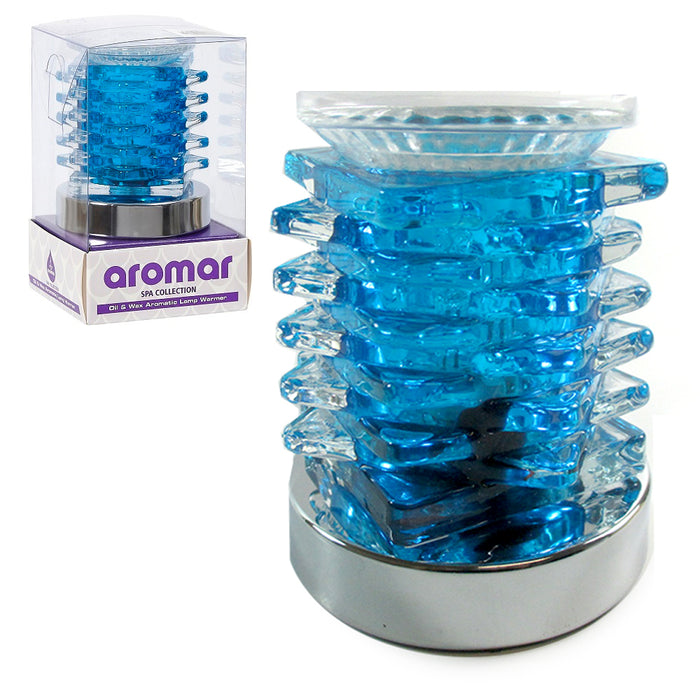 Electric Oil Warmer Wax Burner Scent Aroma Therapy Diffuser Fragrance Lamp Blue