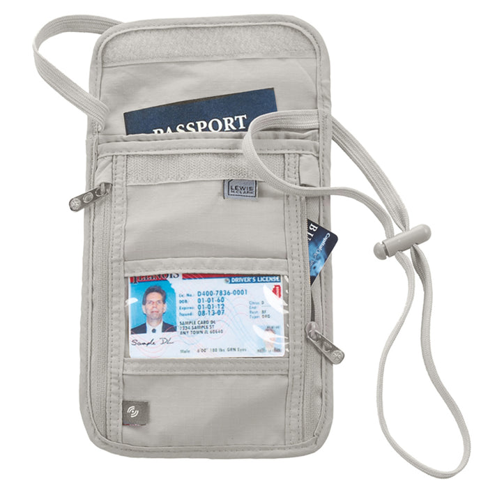 1 X RFID Travel Neck Pouch Passport Holder Premium Waterproof Neck Wallet Stash