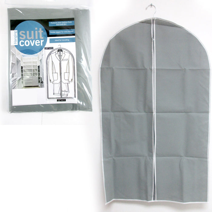 "2 Pack 39"" Hanging Garment Bags Travel Storage Dresses Suits Fold Dust Protect"