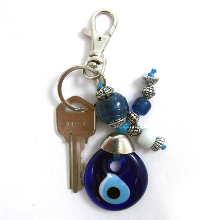 2 Blue Evil Eye Keychain Charm Blessing Protection Good Luck Keychain Gift Charm