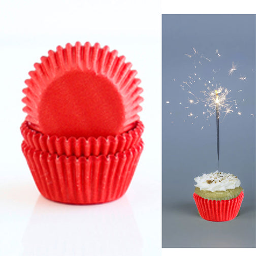 200 X Red Holiday Cupcake Liners Wrapper Cake Muffin Baking Cups Party Dessert