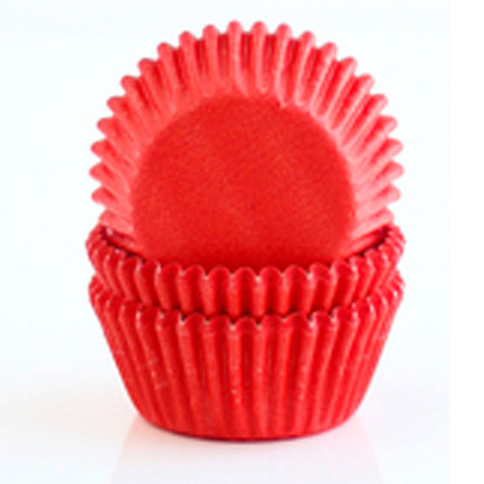 100 X Red Holiday Cupcake Liners Wrapper Cake Muffin Baking Cups Party Dessert