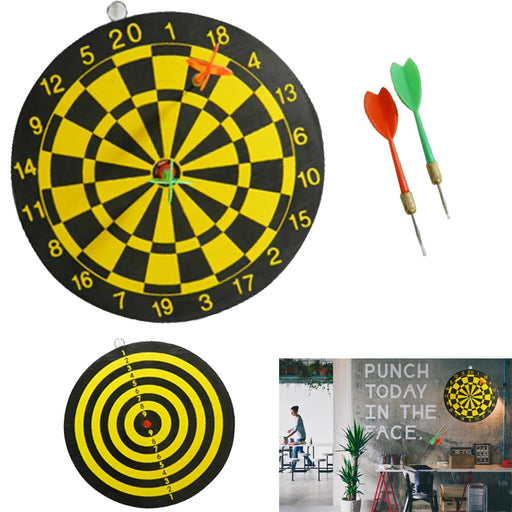 Dart Board Set 3pc Kit Target Play Game Room Bar Man Cave Wall Hanging Dual Side