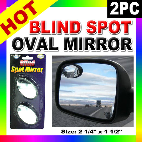 2 Oval Blind Spot Mirrors Car Wide Angle Rear View Side Vehicle Rearview Auto !!