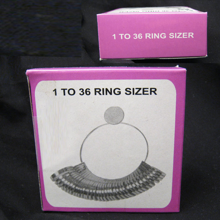 Ring Sizer Gauge Jewelers Finger Sizing Jewelry Tool 1 To 36 Measuring Tool Us !