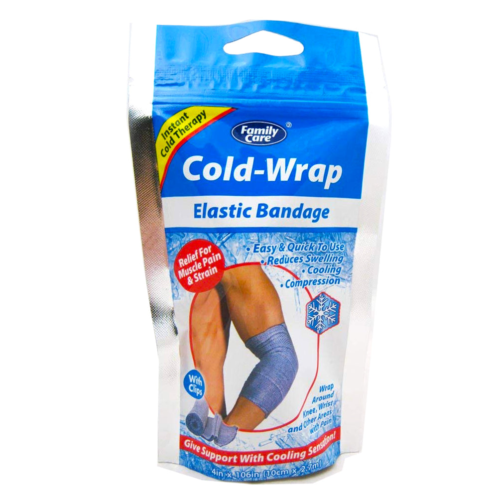 2x Ice Wrap Cold Elastic Bandage Muscle Pain Relief Knee Wrist