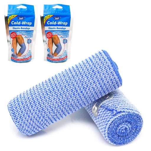 2X Ice Wrap Cold Elastic Bandage Muscle Pain Relief Knee Wrist Ankle Compression