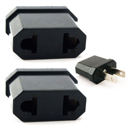 6 Travel Adapter Power Converter Europe to USA Plug  Wall Adaptor Convert Eu>Us