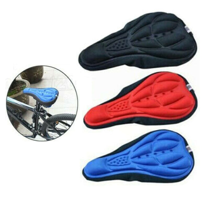 1 Padded Bike Seat Bicycle Cover Extra Comfortable Durable Cushion Soft Saddle