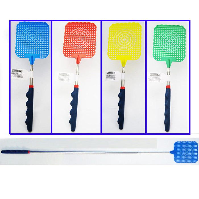 Telescopic Fly Swatter Metal Compact Extends 61cm Fabulous Novelty Gift Handy !!