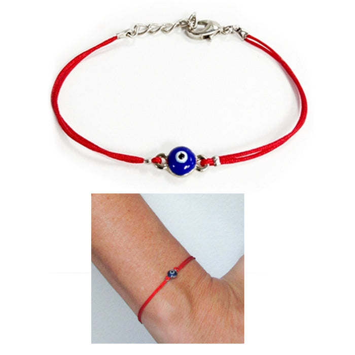 2 Evil Eye Red String Kabbalah Bracelet Mati Nazar Lucky Charm Protection Gold