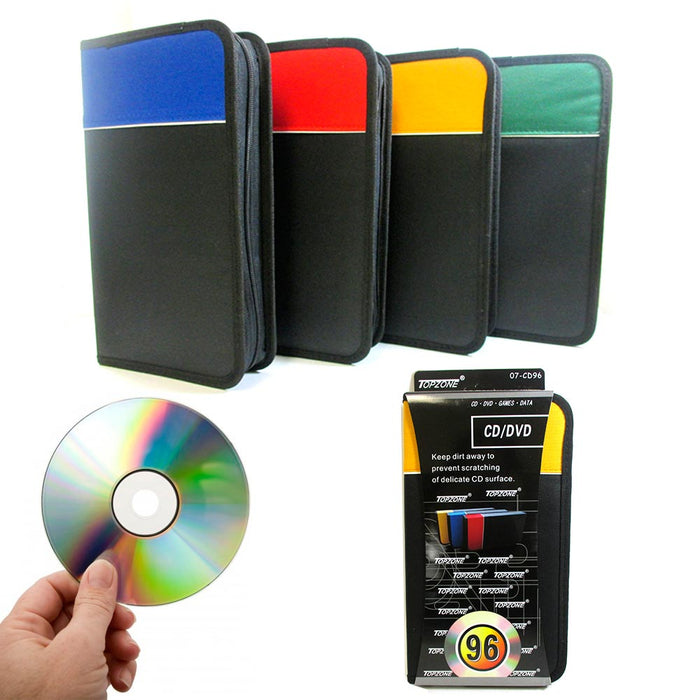 1 Pc CD Holder 96 Capacity DVD Case Storage Wallet Disc Media Book DJ Organizer
