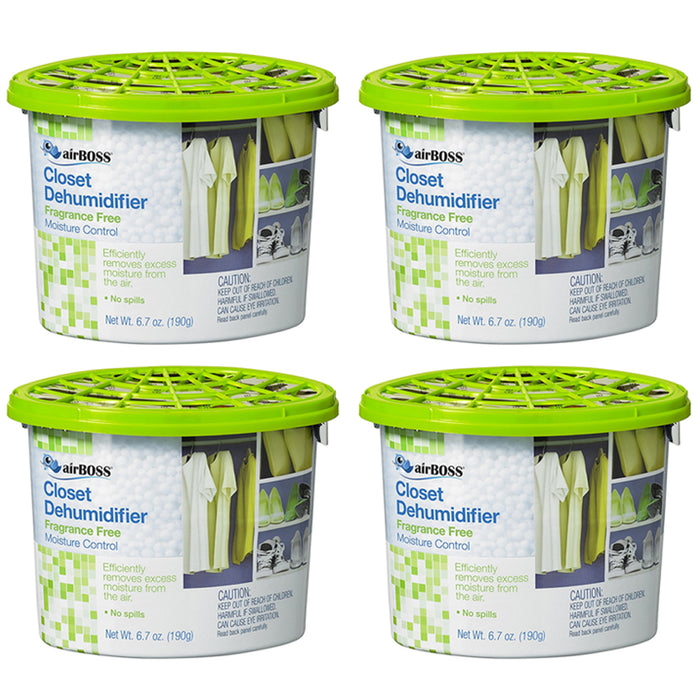4 Pack Dehumidifier Disposable Moisture Absorber Damp Trap Closet Fresh Air Home