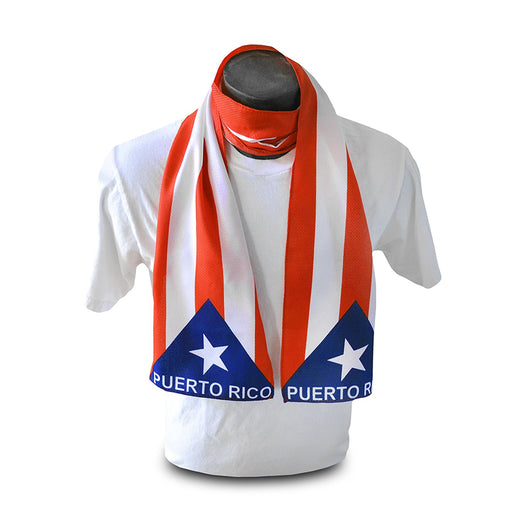 Puerto Rico Scarf Flag Bandera Patriotic Long Banner Head Wrap Knitted Fashion