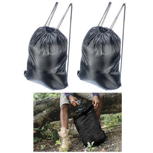 2 Waterproof Drawstring Backpack Cinch Sack String Bag Gym Tote School Sports