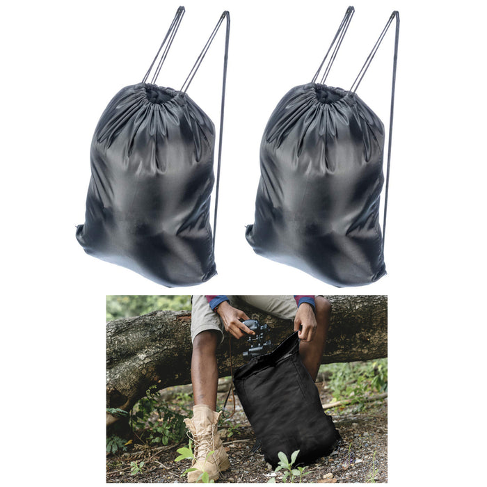 2 Drawstring Backpack Cornhole Cinch Sack String Pack Bag Tote Travel Sports