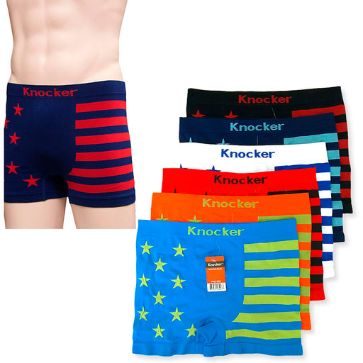 12 Men Seamless Boxer Briefs Knocker Microfiber Underwear Wholesale New MS036