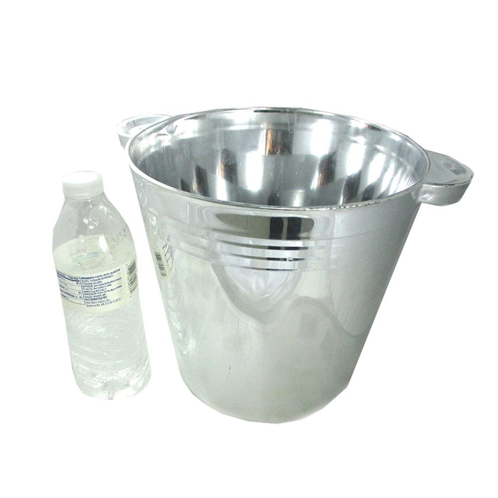 12Pc  Elegant Ice Bucket Cooler Wine Chiller Champagne Bar Beer Party Plastic 6L