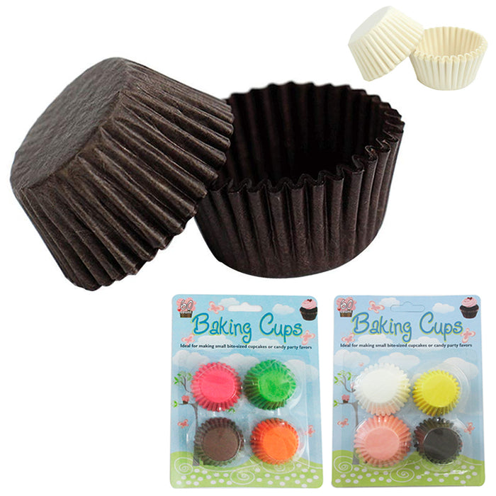 120 Pcs Mini Cupcake Liners Paper Baking Cups Cake Candy Cookie Muffin Bite Size