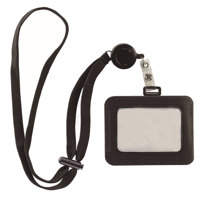 Lewis N Clark ID Badge Holder Durable Badge Reel RFID Blocking Card Holder Strap