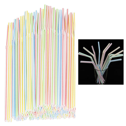150 Pack Long Flexible Drinking Straws Party Bar Drinking Supplies Plastic Bendy