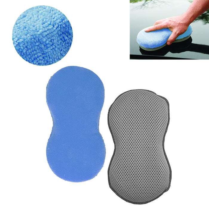 1 Detail Microfiber Sponge Wash Scrub Car Vehicle Care Washing Pad Cleaning Tool