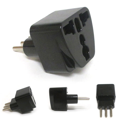 Universal to Italian Travel Power Plug Adapter Adaptor Power Convert  3 Pin Type