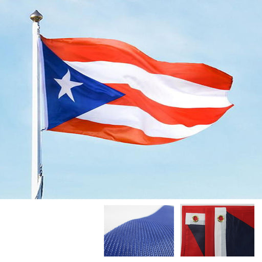 Puerto Rico Flag 3'x5' Banner Country Brass Grommets High Quality Heavy Duty